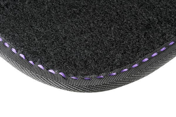 Car carpet The Color black / purple