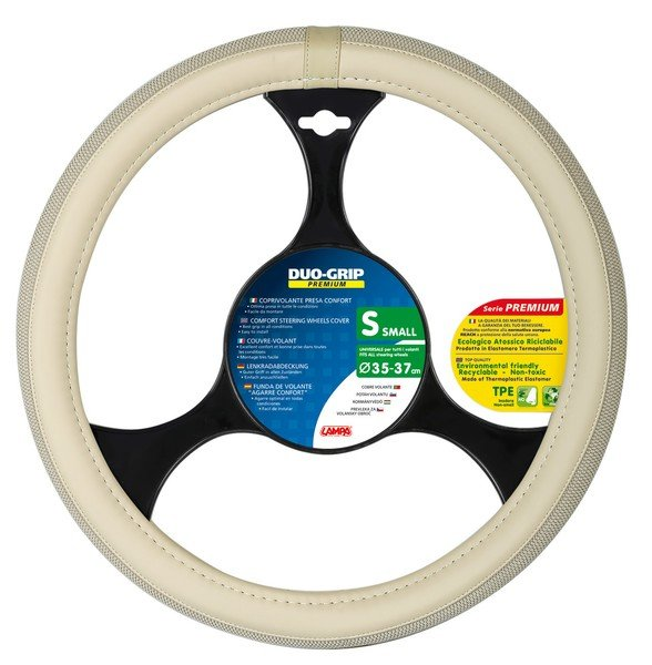 steering wheel cover Duo Grip beige size S 35-37 cm