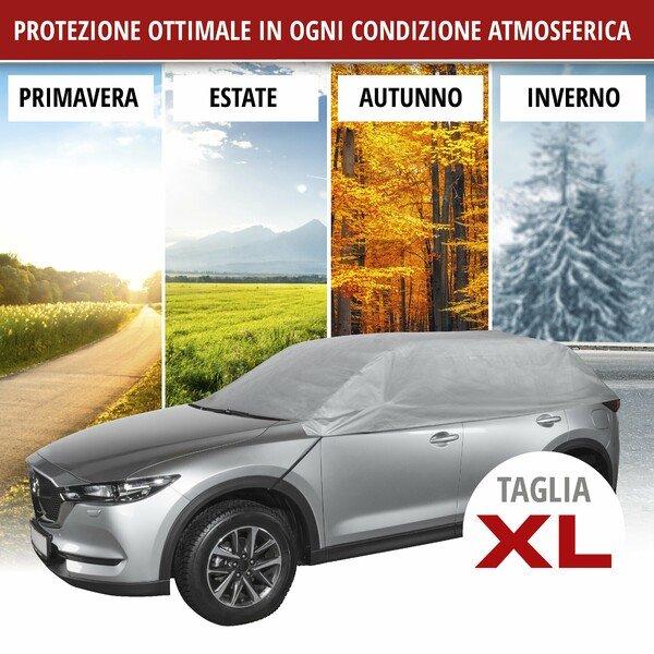 Telone protettivo All Weather Light metà garage taglia XL grigio chiaro