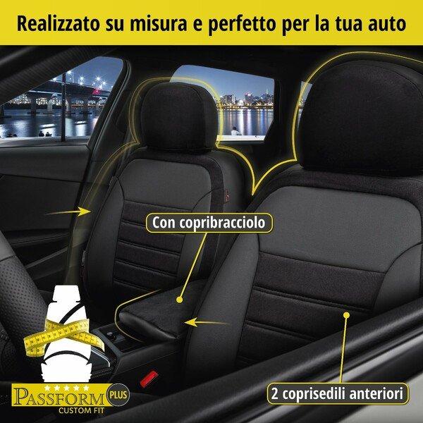 Coprisedili 'Bari' per Audi A3 anno di costruzione 2012 fino ad oggi - 2 coprisedili singoli per sedili sportivi
