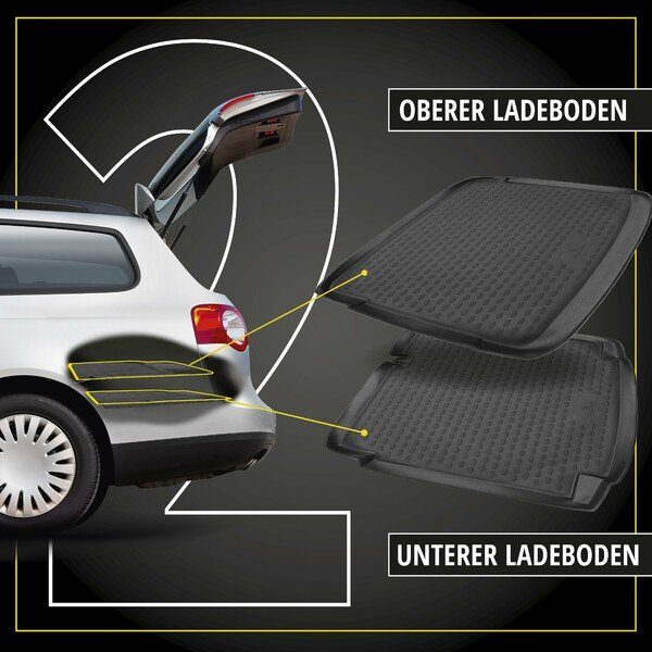 Kofferraumwanne XTR für VW Up, oberer Ladeboden Baujahr 2011 - Heute