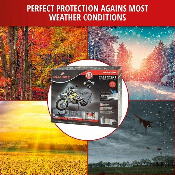 Motorcycle garage Enduro size XL PVC - 255 x 110 x 135 cm grey