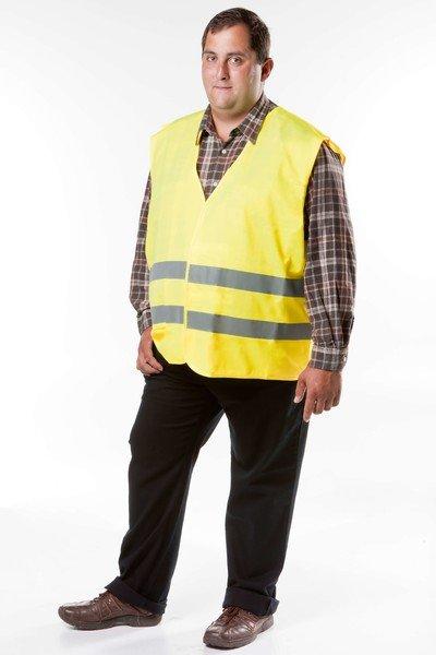 Gilet de sécurité taille XL pour adultes Jaune EN 20471/2