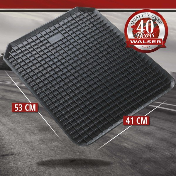 Rubber mats for edge honeycomb 53x41 cm Front black