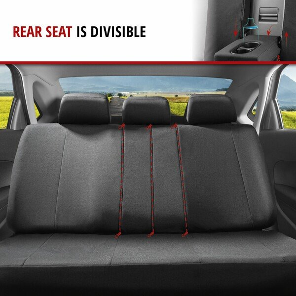 ZIPP IT Premium Car seat covers Avignon complete set with zip-system black/blue