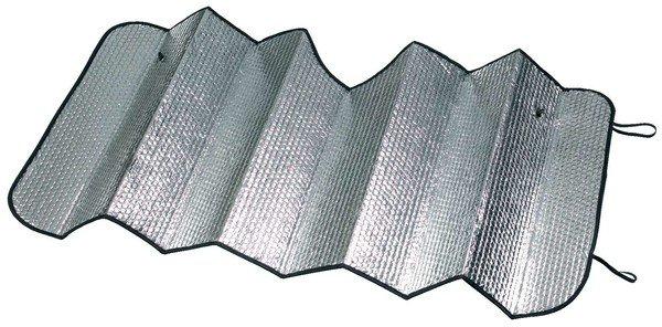 Protection solaire frontale argent 130 x 60 cm avec chambres à air