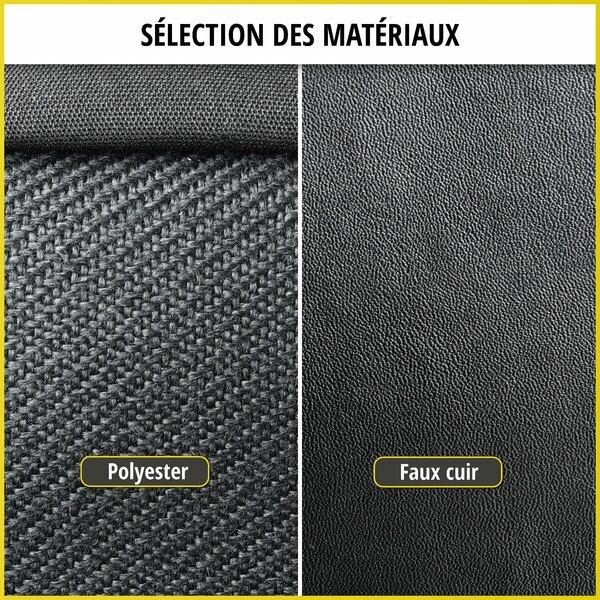 Housse de siège Transporter en simili cuir pour Peugeot Boxer, siège simple et double