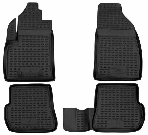 Tappetini in gomma per auto su misura per Ford Fiesta V (JH, JD) 11/2001-12/2014