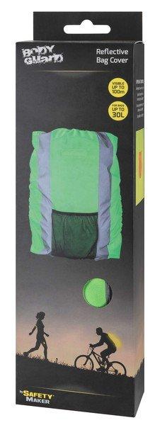 Reflektierende Rucksackhülle grün 30L