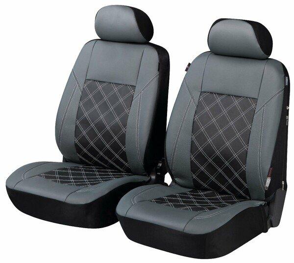 ZIPP IT Housse de luxe pour siège de voiture Durham en simili cuir pour deux sièges avant avec système de fermeture éclair
