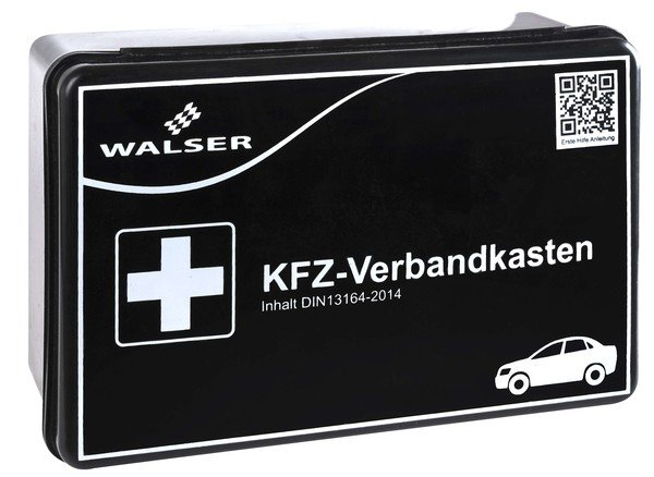 KFZ first-aid box black according to DIN 13164
