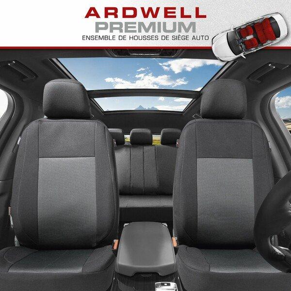 ZIPP IT Premium Housse de sièges Ardwell complet avec système de fermeture éclair noir/gris