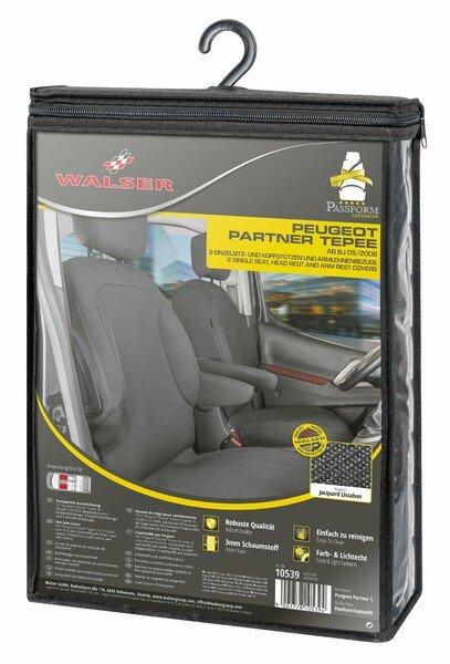 Transporter Coprisedili in tessuto per Peugeot Partner, 2 posti singoli anteriori