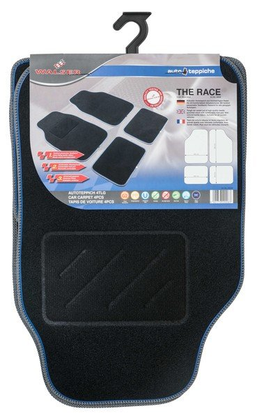 Autoteppich The Race schwarz / blau