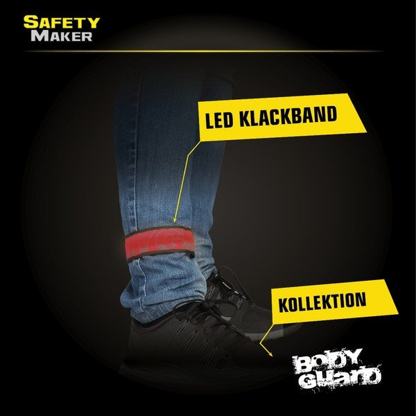 LED Klackband rot