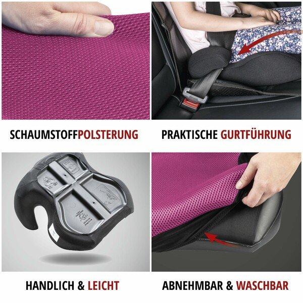 Kindersitzerhöhung Lino schwarz/rosa