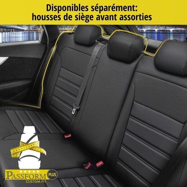 Housse de siège Robusto pour Audi Q5 année 11/2008 à 12/2017 - 2 housses de siège individuelles pour les sièges normaux