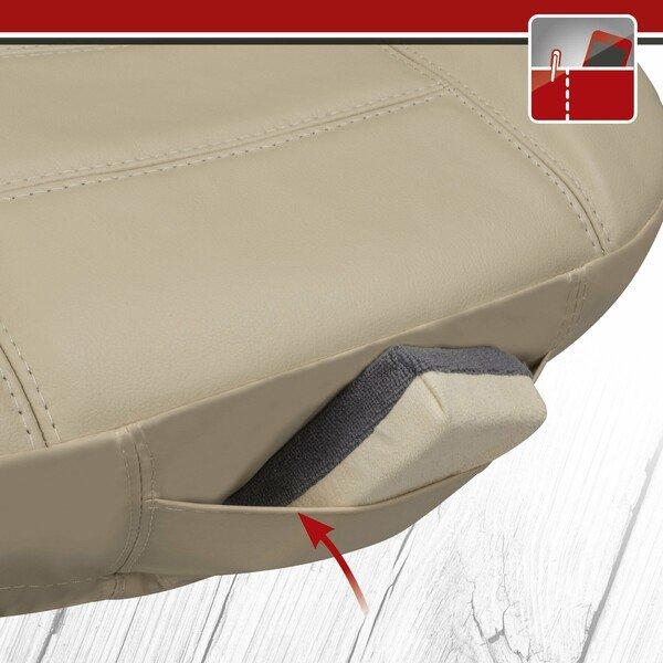 Autositzbezug Billy aus echtem Leder beige ZIPP-IT