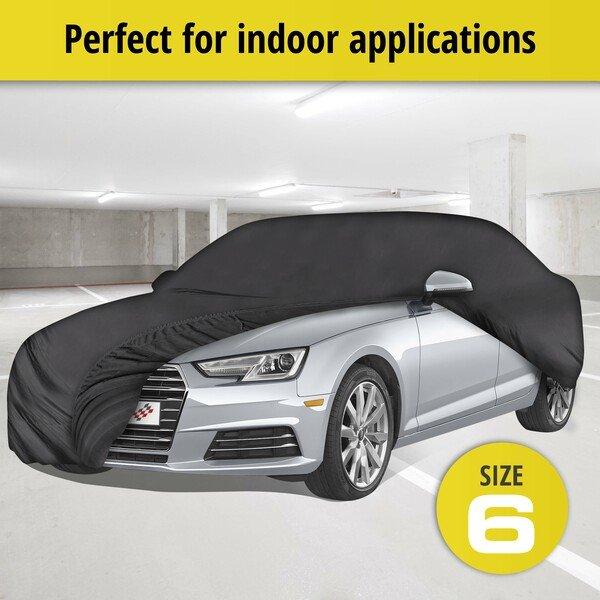 Car tarpaulin Indoor Soft size 6 black