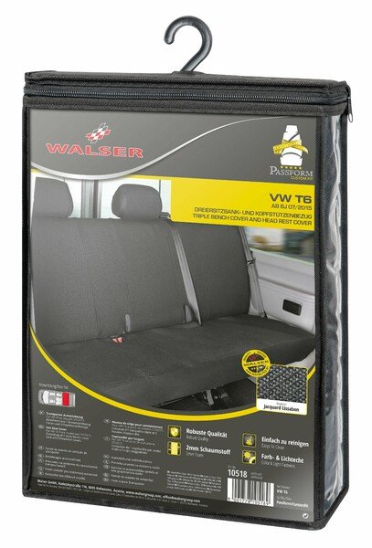 Car Seat cover Transporter made of fabric for VW T6, 3-seater bench