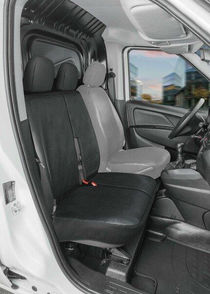 Housse de siège Transporter en simili cuir pour Ford Transit Connect, siège passager double