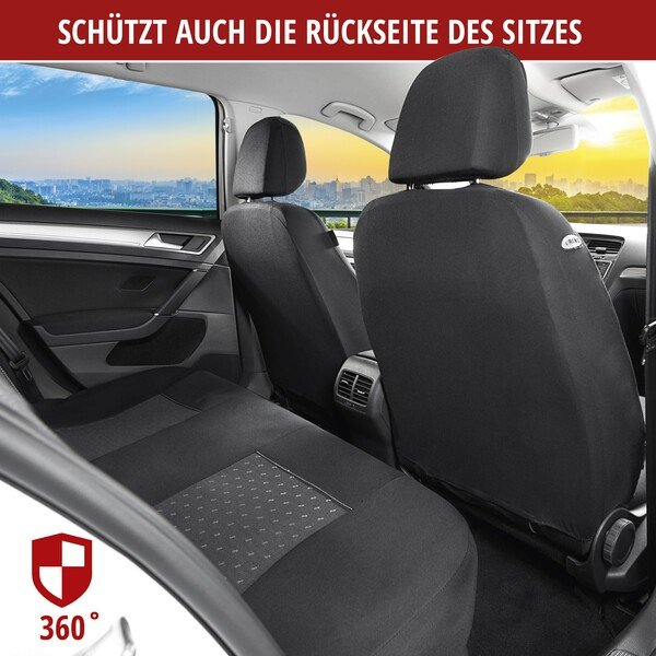 Autositzbezug DotSpot grau schwarz Premium Set