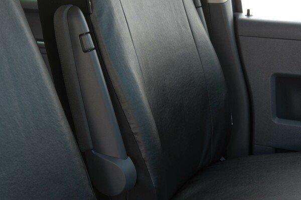 Housse de voiture en similicuir compatible avec VW T5, siège unique avant