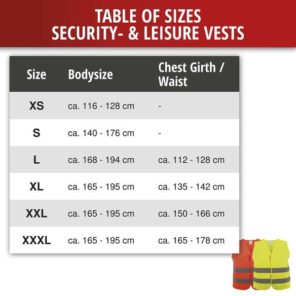 Safety vest size XS for children 3-6 years Yellow EN 1150