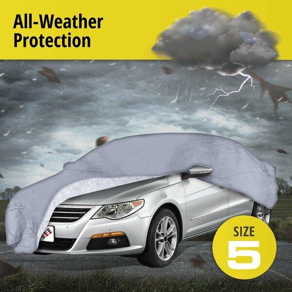 Car tarpaulin All Weather Premium size 5 grey