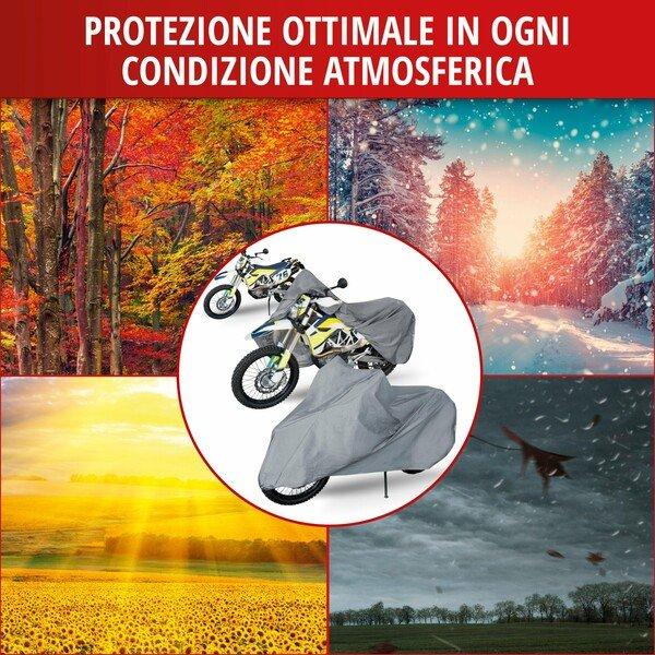 Garage per motociclette Enduro dimensioni XL PVC - 255 x 110 x 135 cm grigio