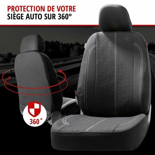 ZIPP IT Housse de sièges Tratto complet avec système de fermeture éclair noir