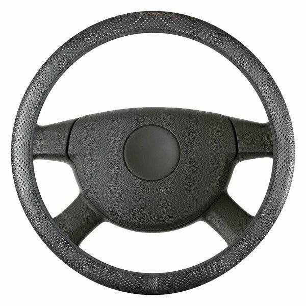 Steering wheel cover Soft Grip Hollow - 38 cm black