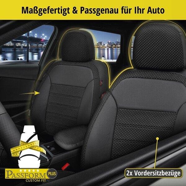 Housse de siège 'Torino' pour VW Polo Comfortline de 2017 à aujourd'hui - 2 housses de siège pour les sièges normaux