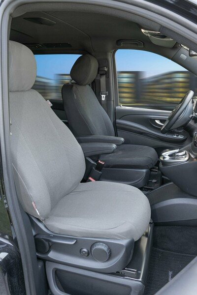 Car seat covers for Mercedes-Benz V-Class 477 (driver) made of cloth incl. Armrest year of construction from 06/2014