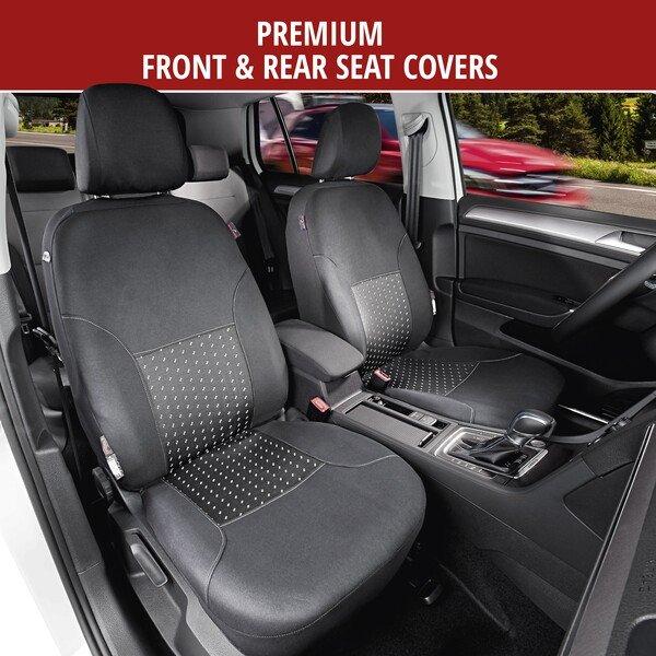 Car Seat Cover Premium DotSpot grey/black
