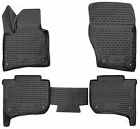 XTR rubber mats for VW Touareg II, two-zone air conditioning year 2010 - 2018