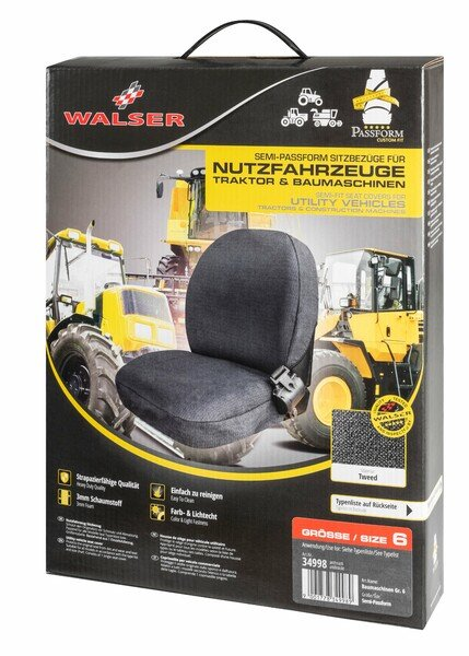 Semi-fit Seat cover for tractors and construction machinery - size 6