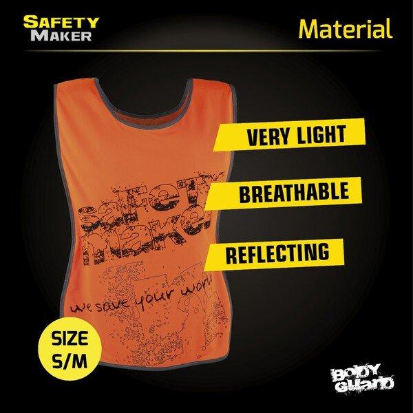 Reflective leisure vest S-M orange