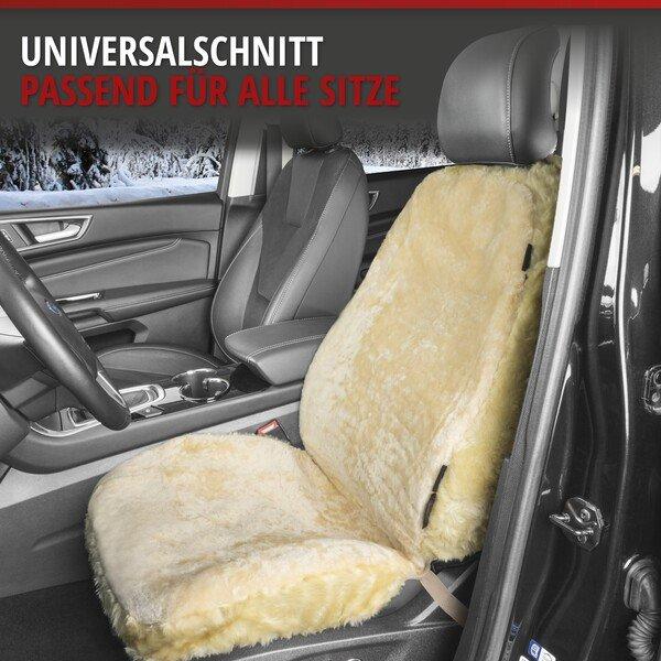 Autositzbezug Monette aus Lammfell beige mit ZIPP IT System