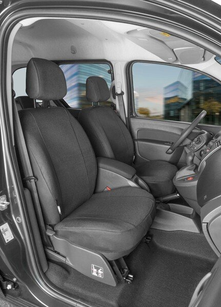 Car Seat cover Transporter made of fabric for Renault Kangoo (Type W), 2 single seats front