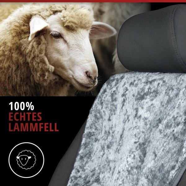 PKW Sitzauflage aus Lammfell Vogue grau 16-18mm Fellhöhe