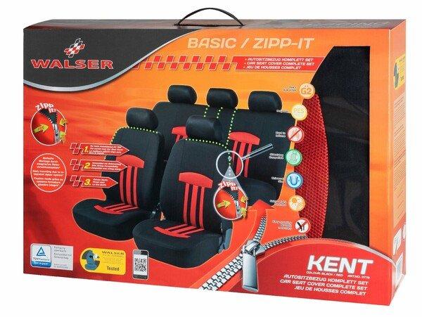 ZIPP-IT Basic Kent rot Autositzbezüge mit Reissverschluss System