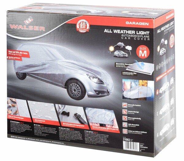 Car tarpaulin All Weather Light full garage size M light grey