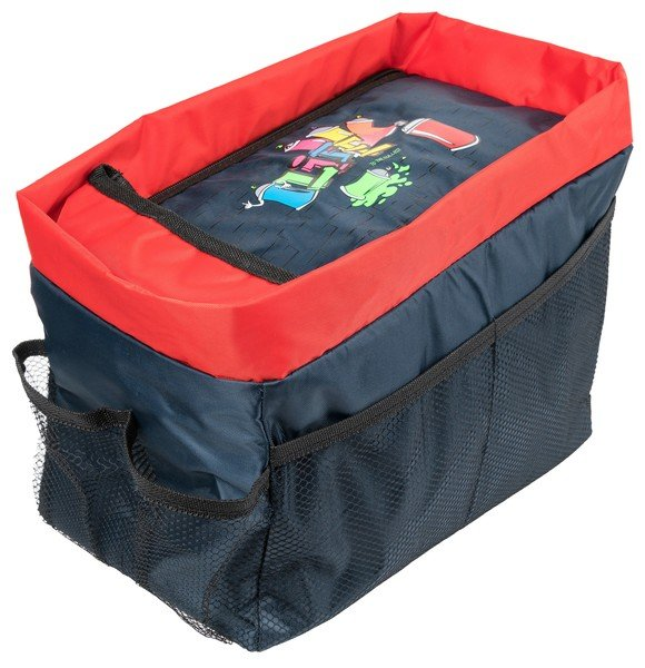 Rear seat organizer Graffiti blue