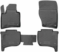 XTR rubber mats for VW Touareg II, without two-zone air conditioning year 2010 - 2018