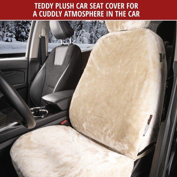 Car seat cover Teddy faux fur vegan beige