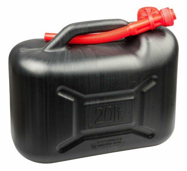 Benzinkanister 20 Liter - UN-geprüft mit Sicherheitsverschluss