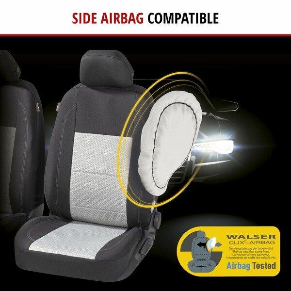 ZIPP IT Premium Car seat covers Avignon complete set with zip-system black/silver