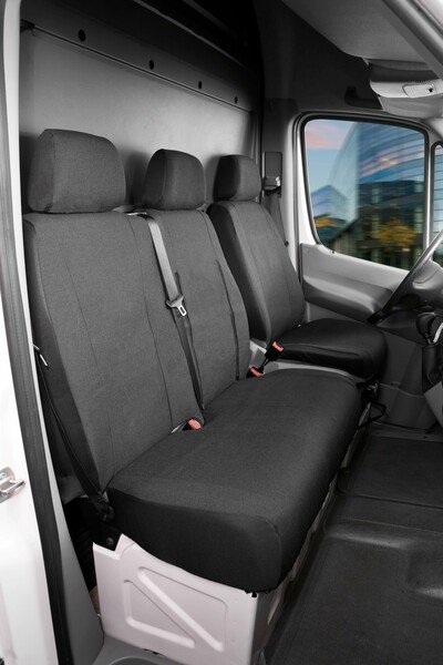 Car Seat covers for Ford Transit fabric single seat and double bench front from model year 08/2000 - 04/2014