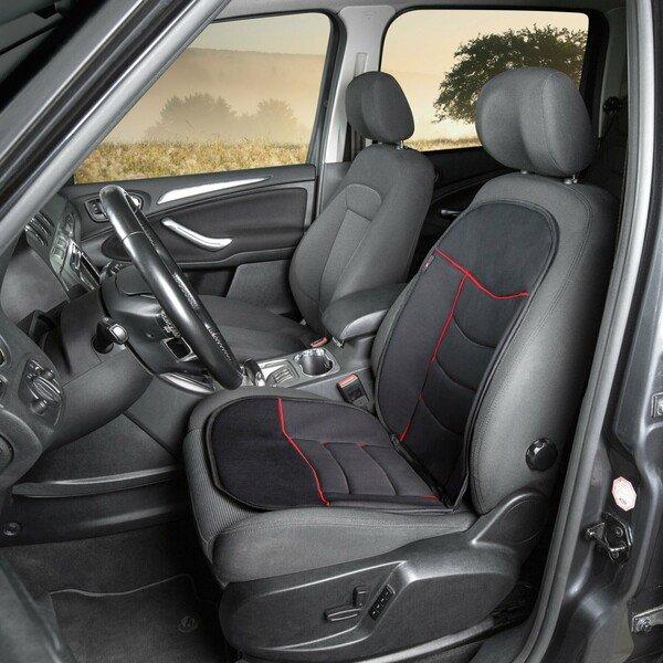 PKW Sitzauflage Elegance Plus rot schwarz